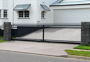Automated aluminium gate